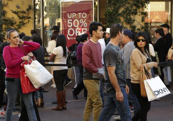 People shop during day after Christmas sales at Citadel Outlets in Los Angeles, California December 26, 2014.